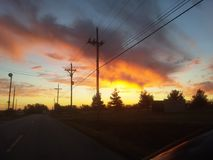 Облака принимая в Карфаген Миссури Стоковые Фотографии RF