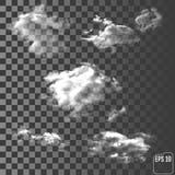 Облака Реалистическое прозрачное различное облако бесплатная иллюстрация