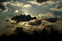 Облака светя Стоковое Изображение RF