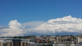 Облака Сиэтл Стоковое Изображение