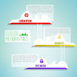 Облака с infographics лестницы простым чистым Стоковые Фотографии RF