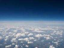 Облака увиденные от равнины Стоковое Фото