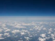 Облака увиденные от равнины Стоковое Изображение