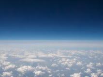Облака увиденные от равнины Стоковые Изображения
