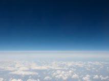 Облака увиденные от равнины Стоковые Фотографии RF