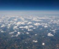 Облака увиденные от равнины Стоковое Изображение RF