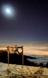 Облака лунного света ниже Стоковое фото RF