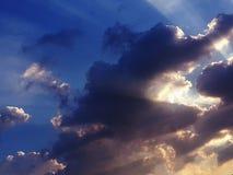 Облака луч света Стоковые Фото