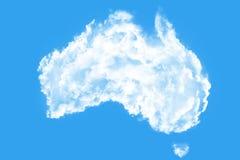 Облака формируя форму Австралии Стоковое Изображение
