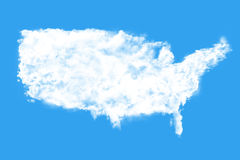 Облака формируя форму мира Стоковое Фото