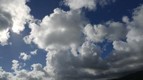 Облака шарика хлопка Стоковые Фото