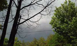 Облака шторма заваривать Стоковая Фотография