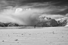 Облака шторма зимы на ряде Teton Стоковые Изображения RF
