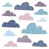 Облака Юта ¡ Ð смешные в пастельных цветах Стоковые Изображения RF