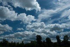 2 облака Стоковое Фото