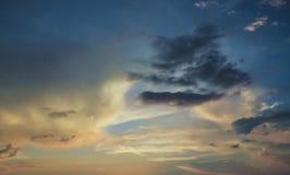 Облака Colorfull Стоковая Фотография