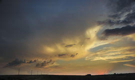 Облака Colorfull Стоковые Фотографии RF
