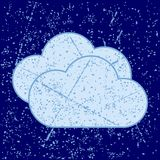 Облака Grunge Стоковое Изображение RF