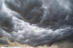 Облака Horrifine двигая впереди шторма Стоковая Фотография