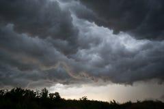 Облака Horrifine двигая впереди шторма Стоковое Фото
