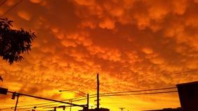 Облака Mammutus Стоковое Изображение RF