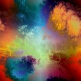 Облака toxic Rainbowmarble Стоковое Фото