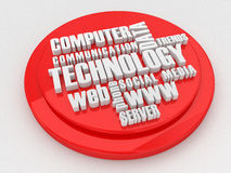 Облако бирки вопроса технологии Стоковое Фото