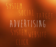 Облако бирки рекламы бесплатная иллюстрация