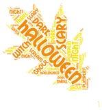 Облако бирки слова хеллоуина лист осени Стоковое Изображение RF