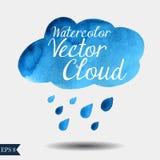 Облако вектора акварели Стоковые Изображения