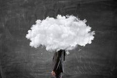 Облако возглавило бизнесмена Мультимедиа Стоковые Изображения RF