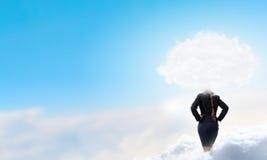 Облако возглавило женщину стоковые фото