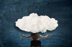 Облако возглавило женщину стоковая фотография rf