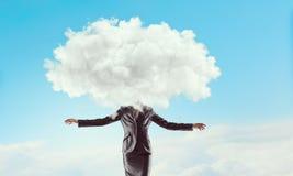 Облако возглавило женщину стоковые изображения