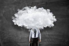Облако возглавило человека Мультимедиа Стоковая Фотография