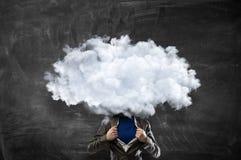 Облако возглавило человека Мультимедиа Стоковые Изображения RF