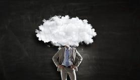 Облако возглавило человека Мультимедиа Стоковое Изображение RF