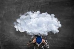 Облако возглавило человека Мультимедиа Стоковое Изображение