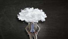 Облако возглавило человека Мультимедиа Стоковая Фотография RF