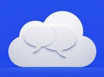 Облако вычисляя, сообщения бесплатная иллюстрация