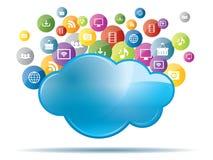 облако 2010 вычисляя smau Майкрософта Стоковое Изображение RF