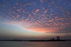 Облако захода солнца Стоковые Фотографии RF