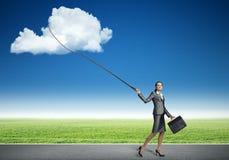 Облако задвижки женщины Стоковые Изображения