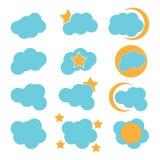 Облако значка Стоковые Изображения RF