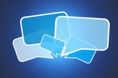 Облако значков сообщения изолированных на предпосылке - conce интернета Стоковые Фото