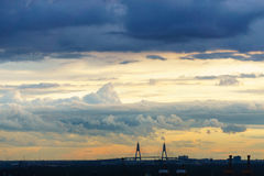 Облако и небо перед заходом солнца в Бангкоке Таиланде Стоковое Фото