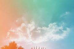 Облако и небо с текстурой бумаги grunge Стоковая Фотография RF