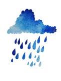Облако и дождь Стоковое Изображение RF