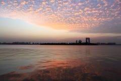 Облако захода солнца Стоковые Изображения RF