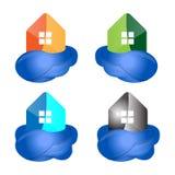 Облако и дом Стоковое фото RF